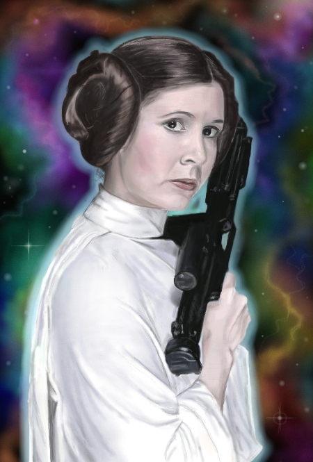 Carrie Fisher par StrenAbility
